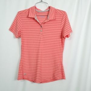 Climacool Short Sleeve Coral Henley Shirt